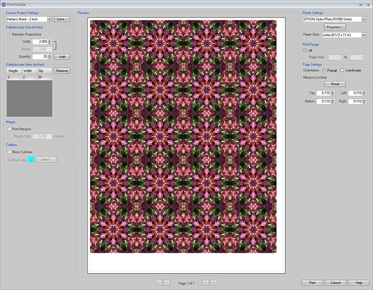 Making patterned paper